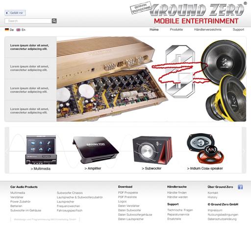 Webdesign Auto Soundsystem