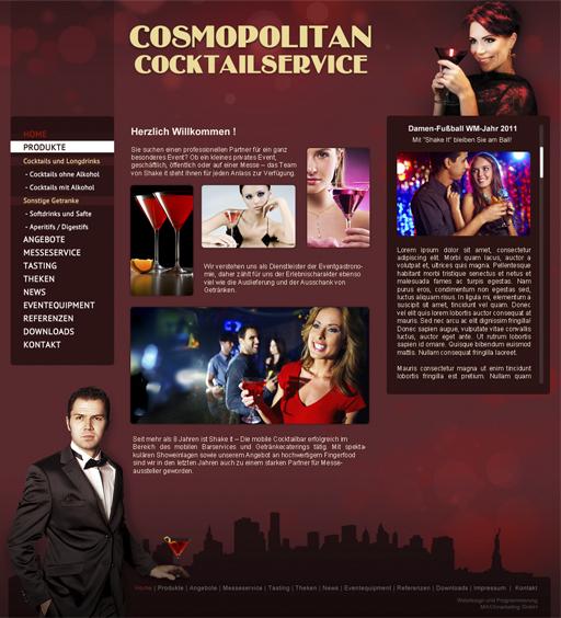Webdesign Cocktailservice