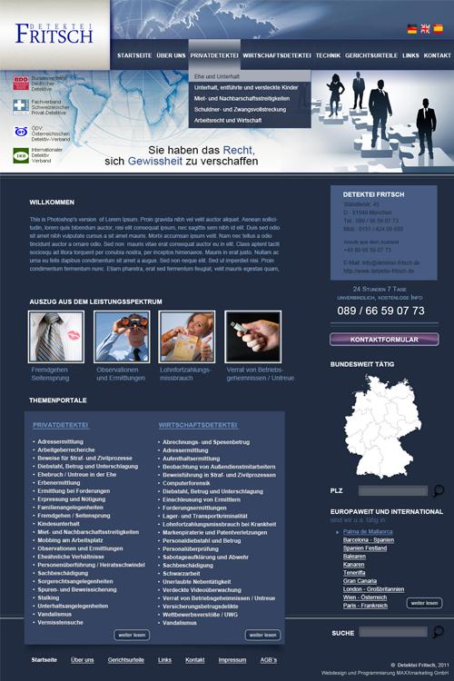 Webdesign Detektei
