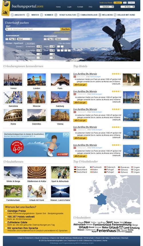 Webdesign Hotelbuchung