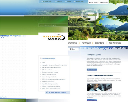 Web-Design von MAXX-marketing zum Thema