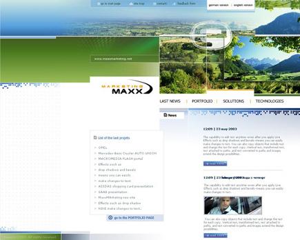 Web-Design von MAXX-marketing zum Thema