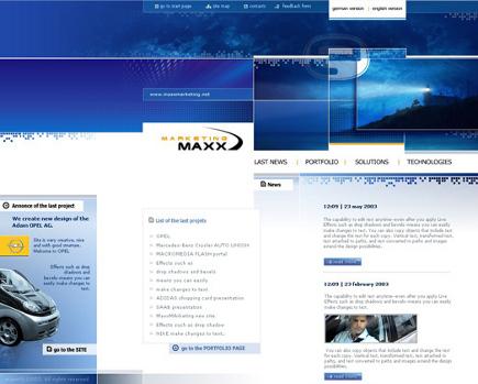 Es wurden verschiedene Web-Design Beispiele zum Thema Marketing integriert. Wie gefaellt Ihnen das Web-Design zum Thema