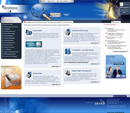 Design der Startseite und Umsetzung der gesamten PHP Programmierung im eigenen CMS mit Klicktracking-System für die Auswertung der versendeten Emails