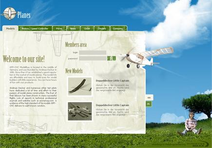 Webdesign, PHP Programmierung und Umsetzung der Seite in eine CMS