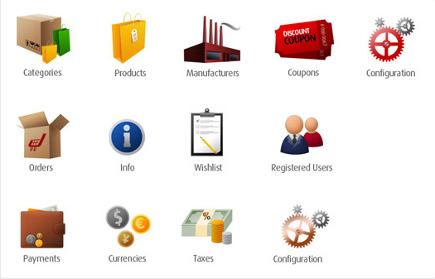 Icon-Design zum Thema Shop