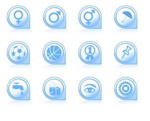 Icon-Design zum Thema Signs
