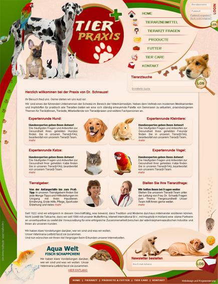 Webdesign Tierpraxis