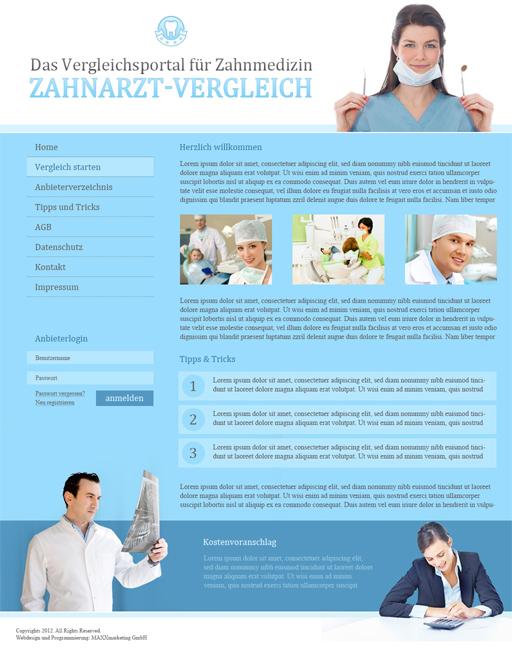 Webdesign Zahnarztportal